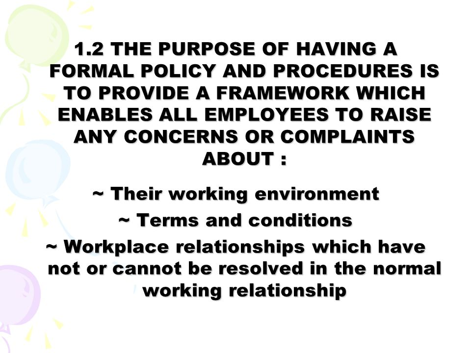~ Their working environment