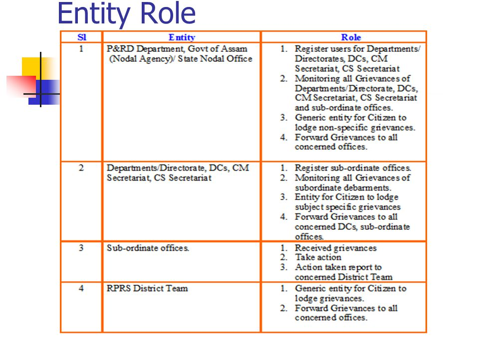Entity Role