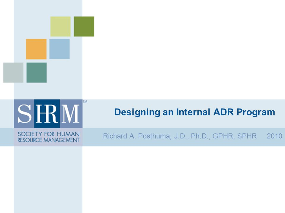 Designing an Internal ADR Program