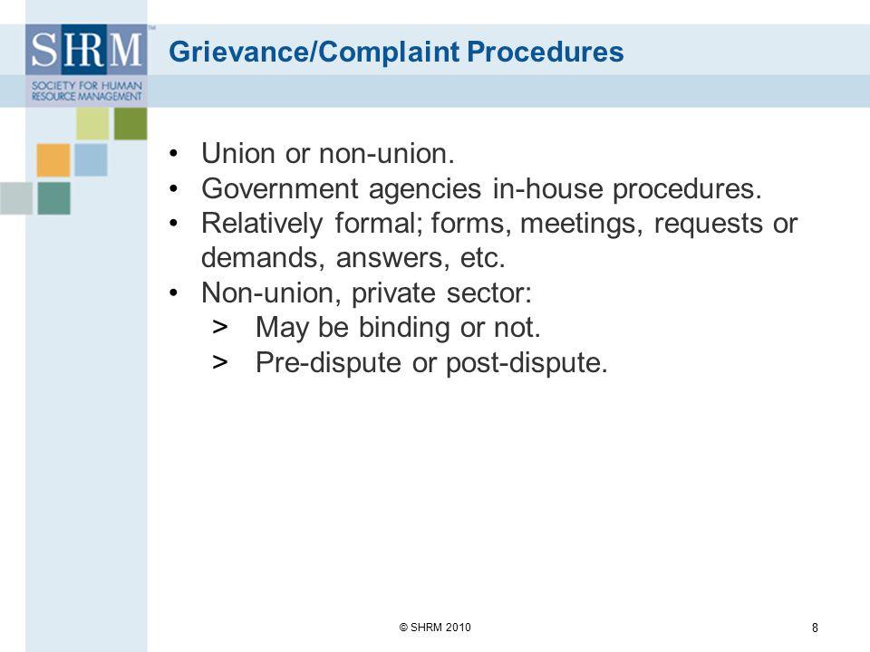 Grievance/Complaint Procedures