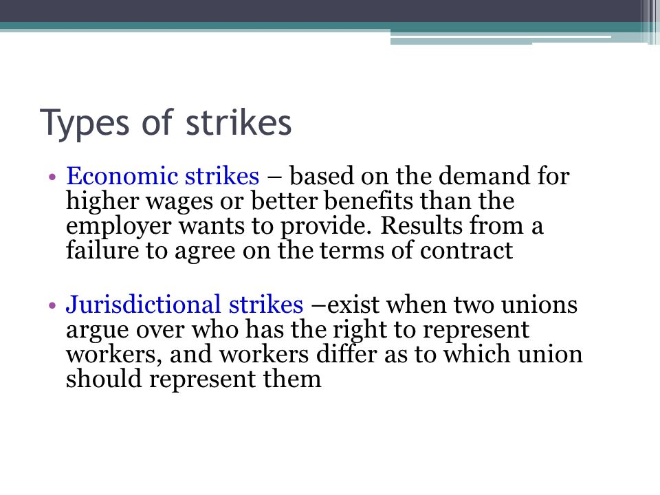 Types of strikes