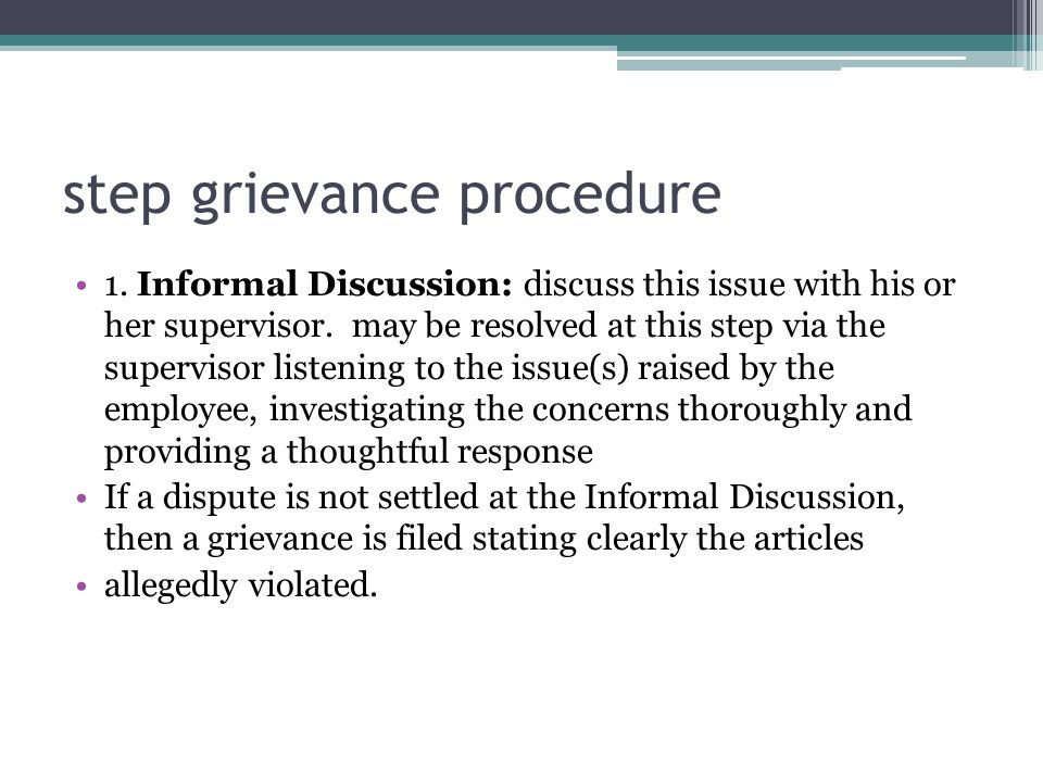 step grievance procedure