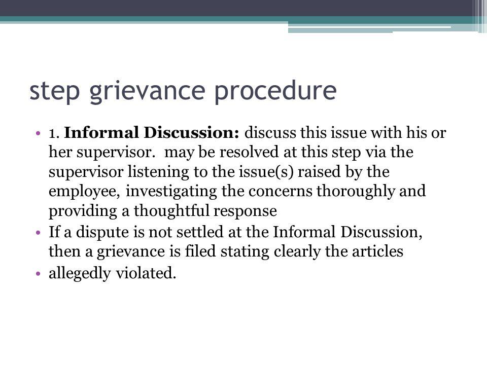 step grievance procedure