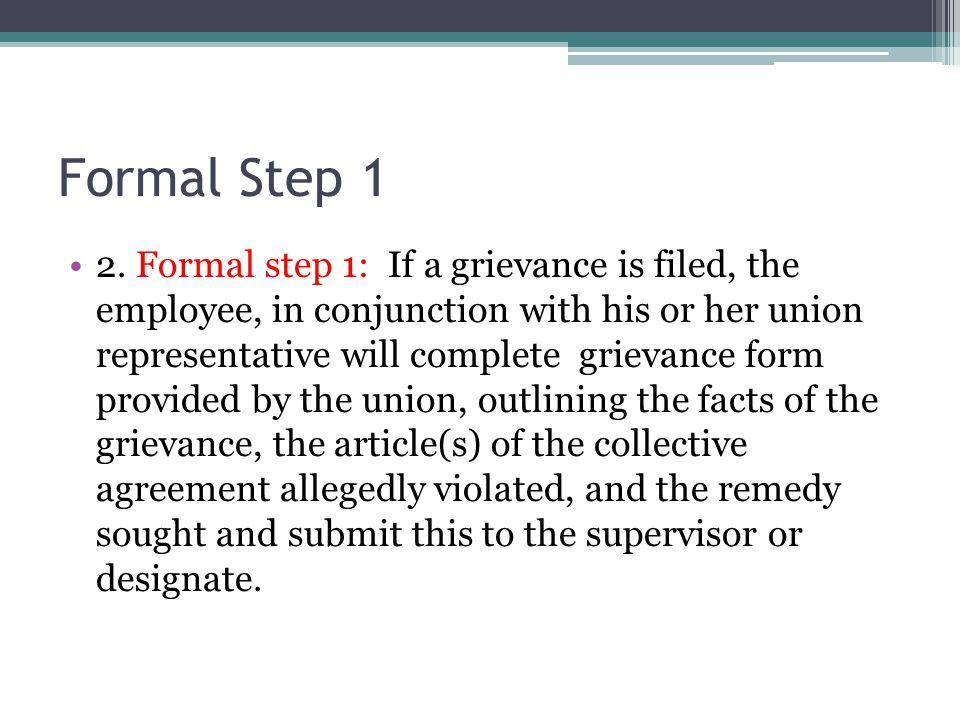 Formal Step 1