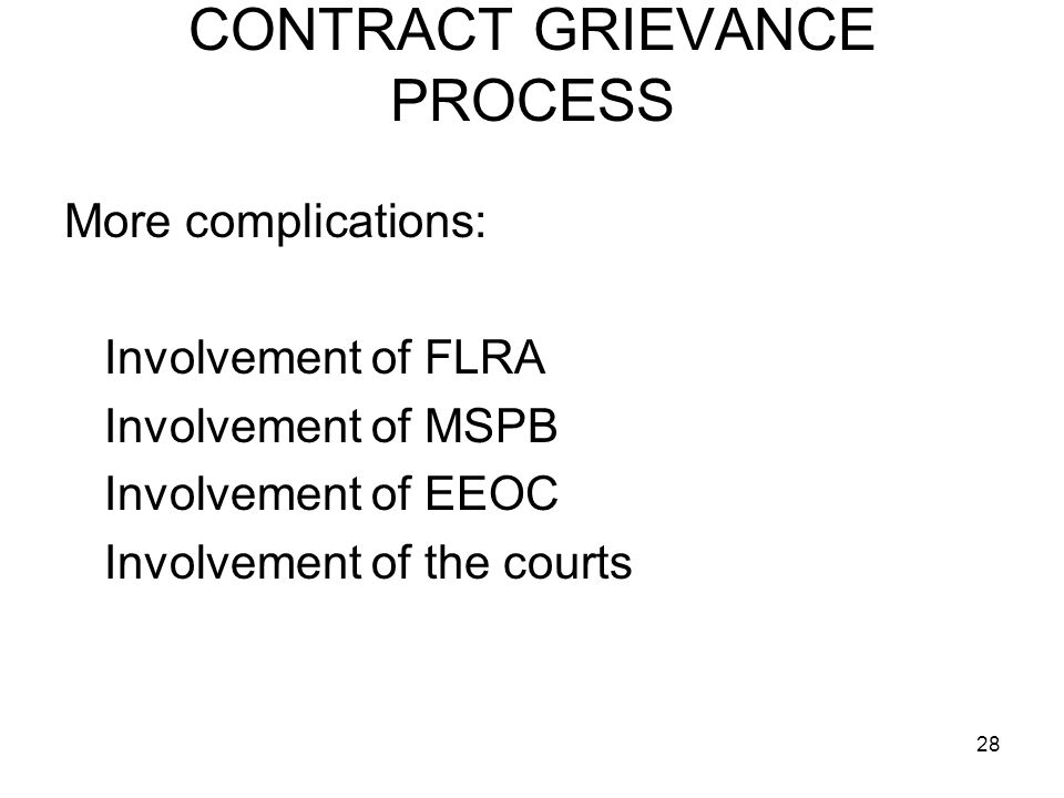 CONTRACT GRIEVANCE PROCESS