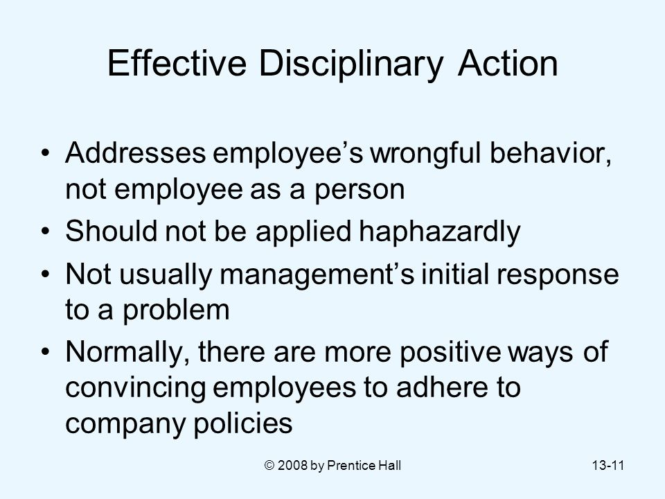 Effective Disciplinary Action