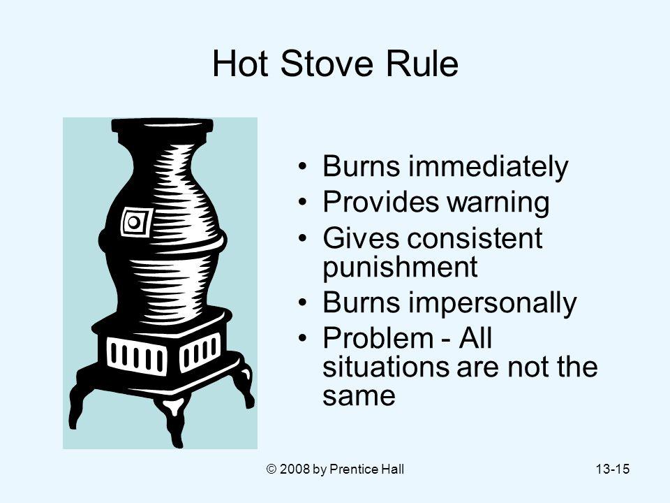 Hot Stove Rule Burns immediately Provides warning