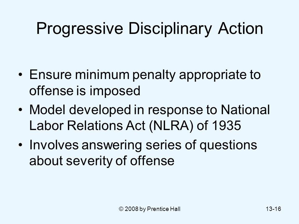 Progressive Disciplinary Action