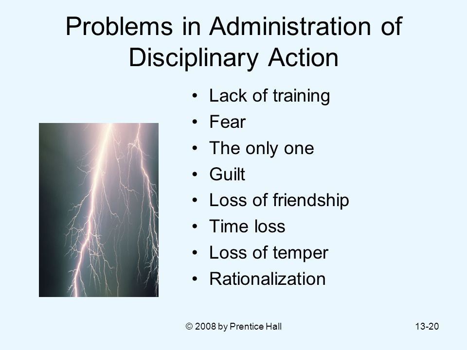 Problems in Administration of Disciplinary Action