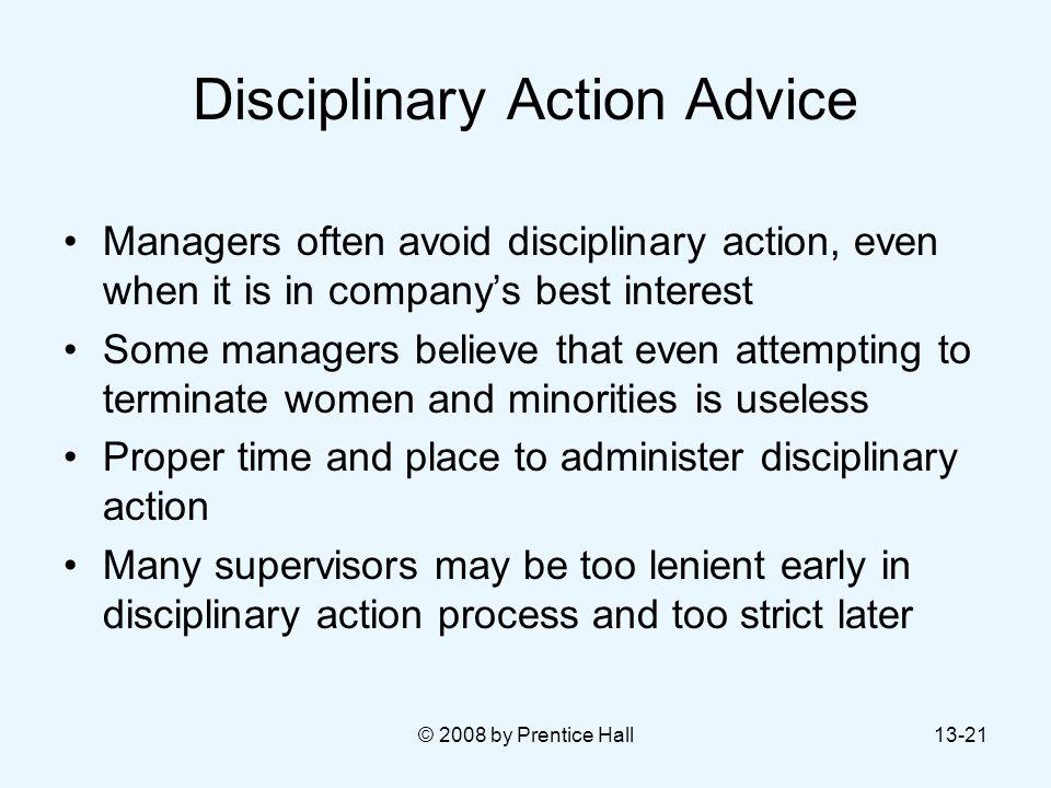Disciplinary Action Advice