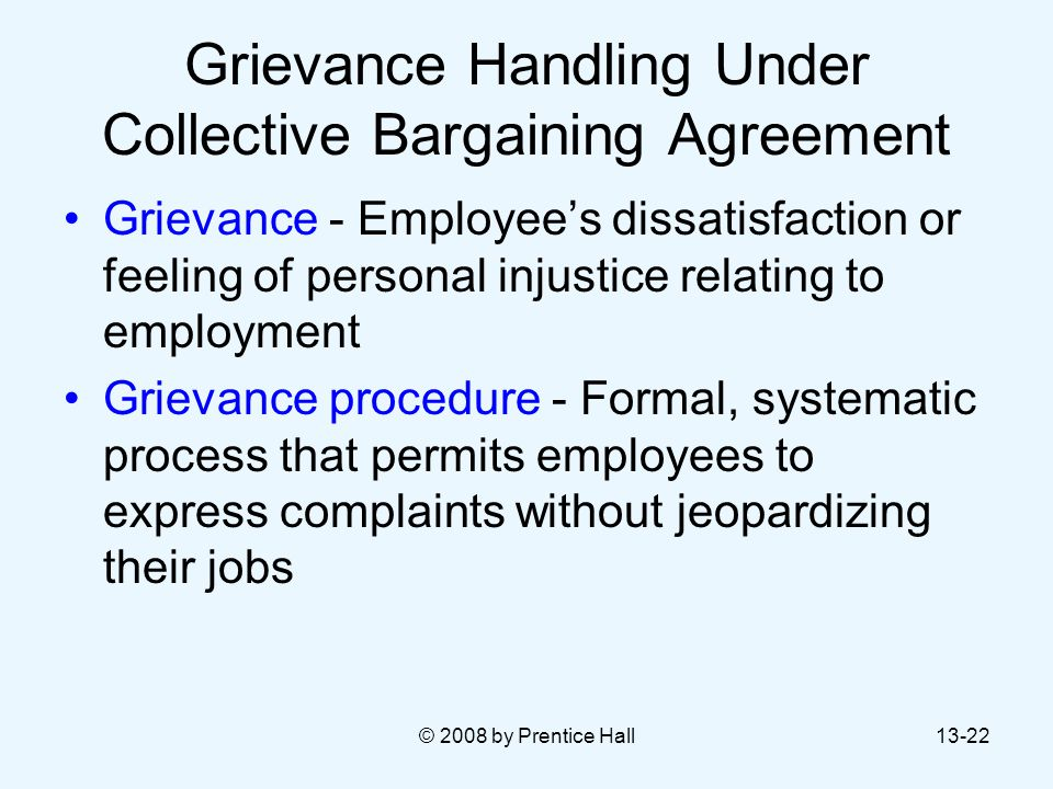 Grievance Handling Under Collective Bargaining Agreement