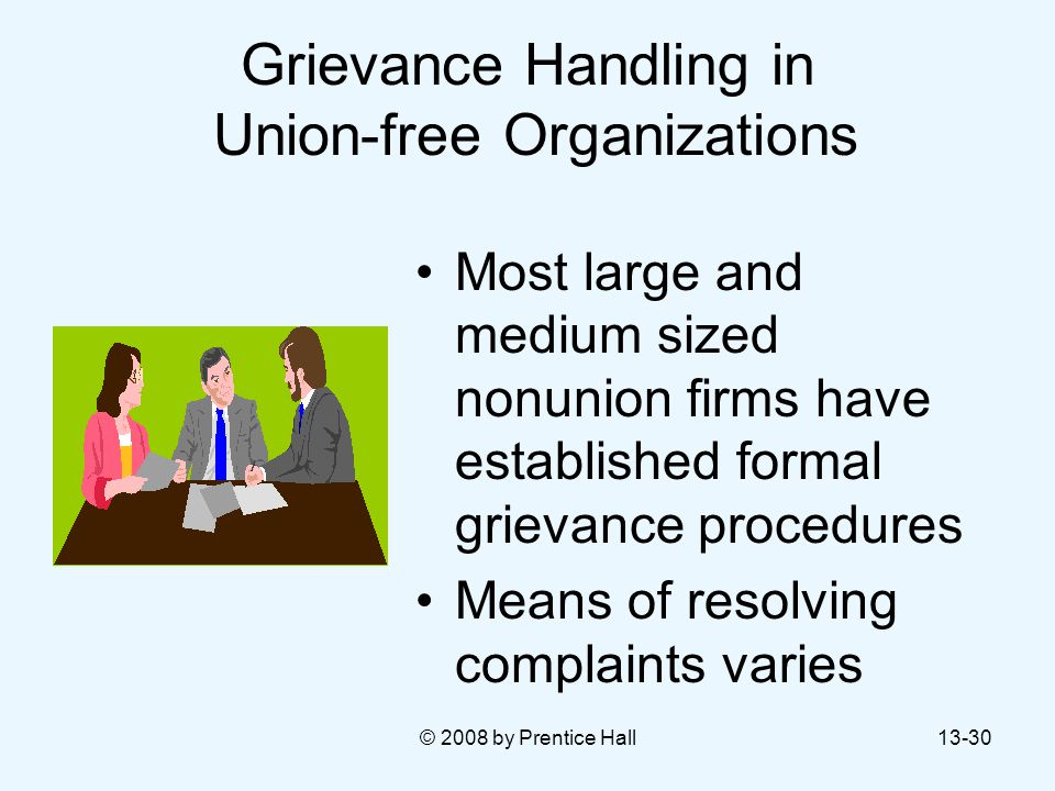 Grievance Handling in Union-free Organizations