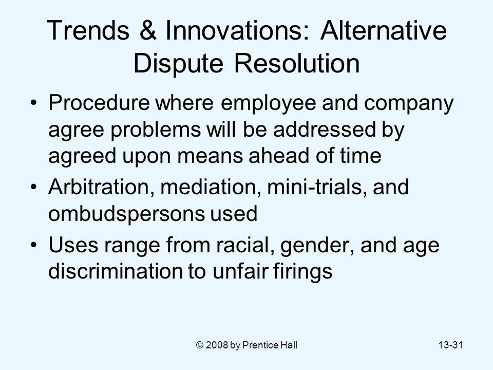 Trends & Innovations: Alternative Dispute Resolution