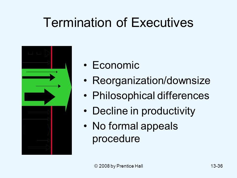 Termination of Executives