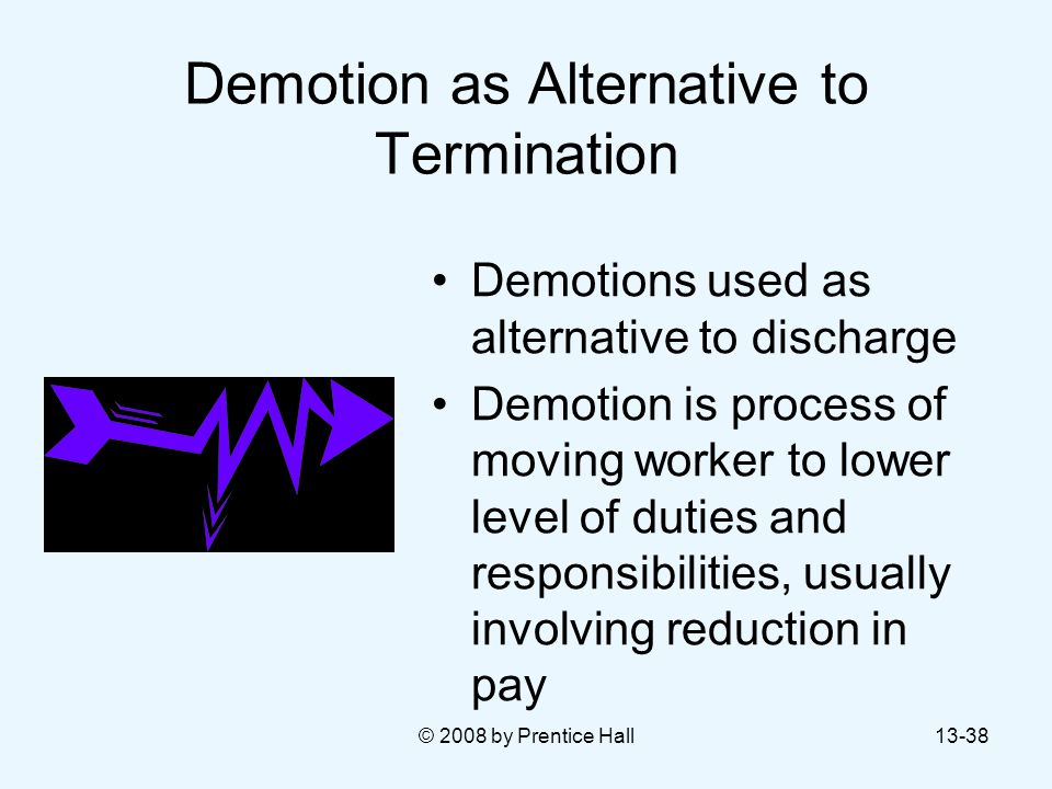 Demotion as Alternative to Termination