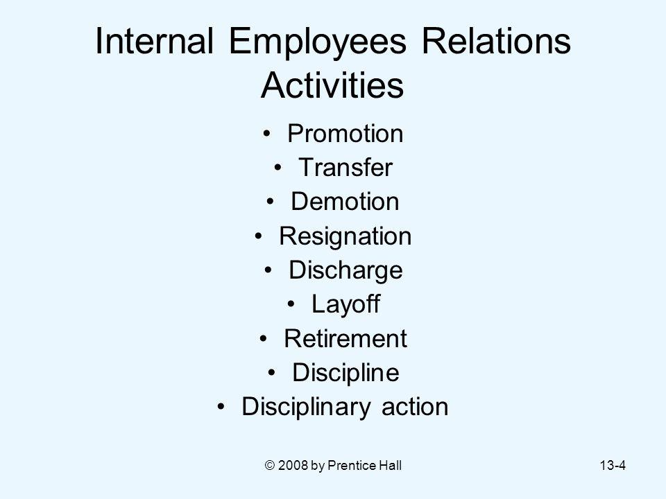 Internal Employees Relations Activities