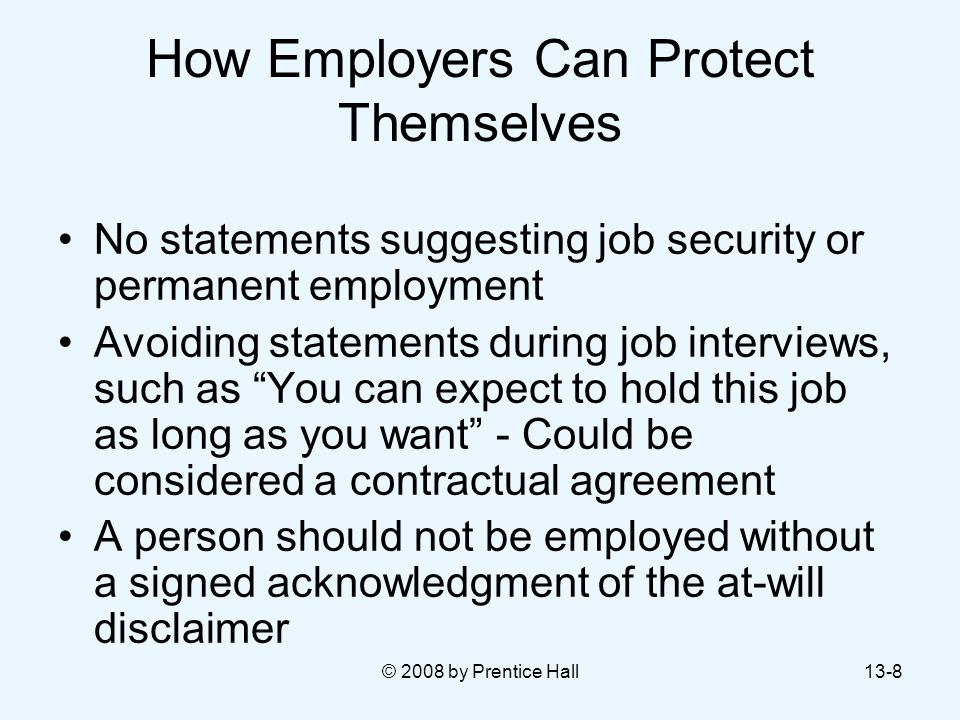 How Employers Can Protect Themselves