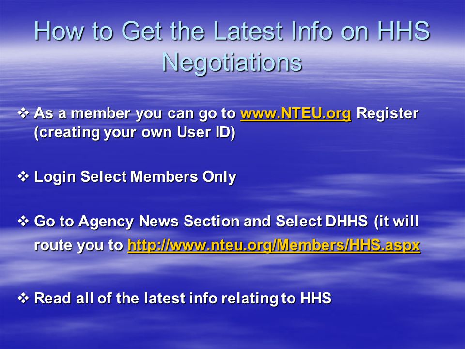 How to Get the Latest Info on HHS Negotiations