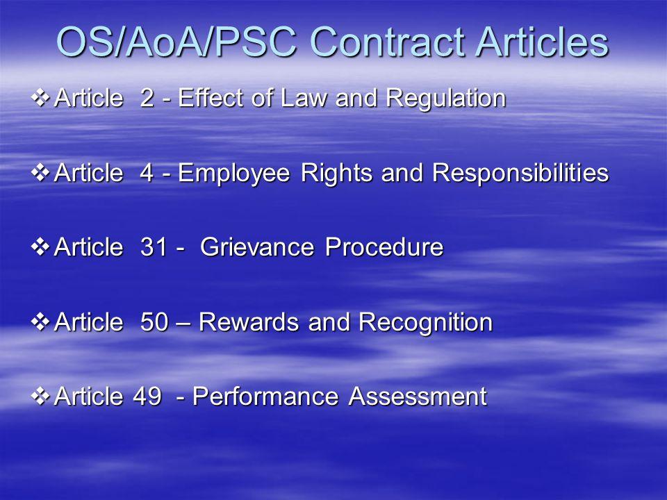 OS/AoA/PSC Contract Articles