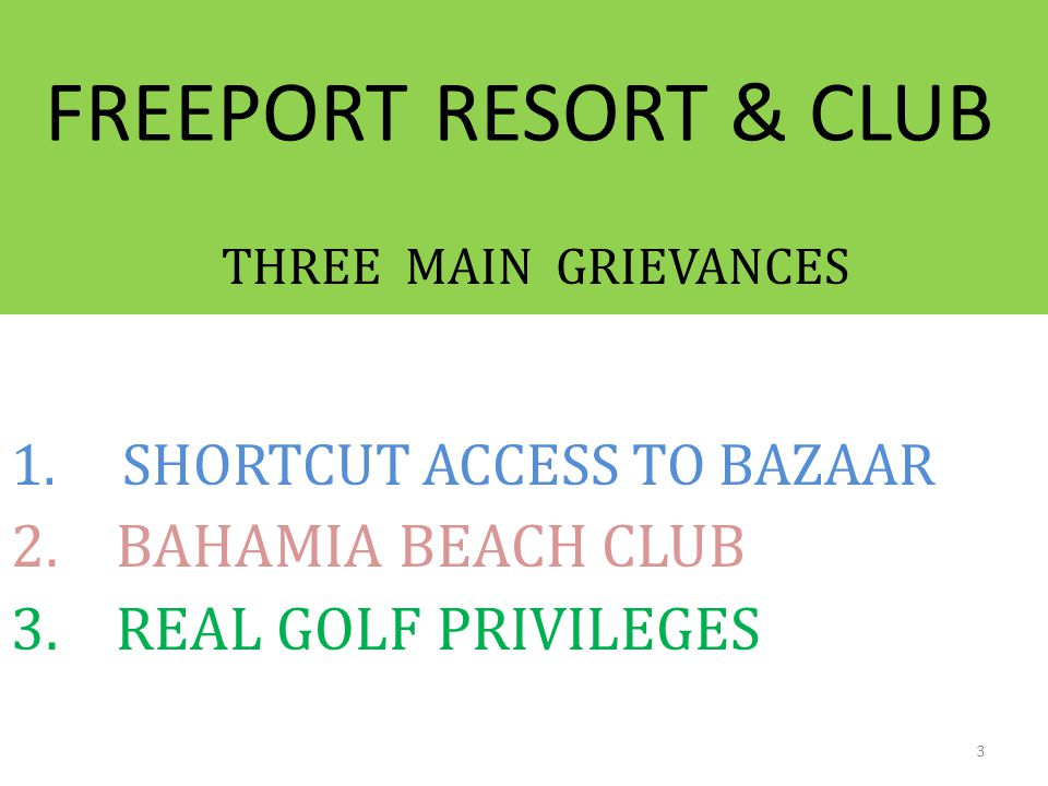 SHORTCUT ACCESS TO BAZAAR BAHAMIA BEACH CLUB REAL GOLF PRIVILEGES