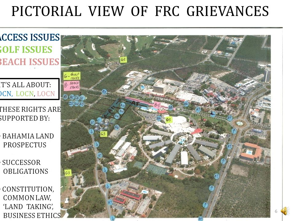 PICTORIAL VIEW OF FRC GRIEVANCES