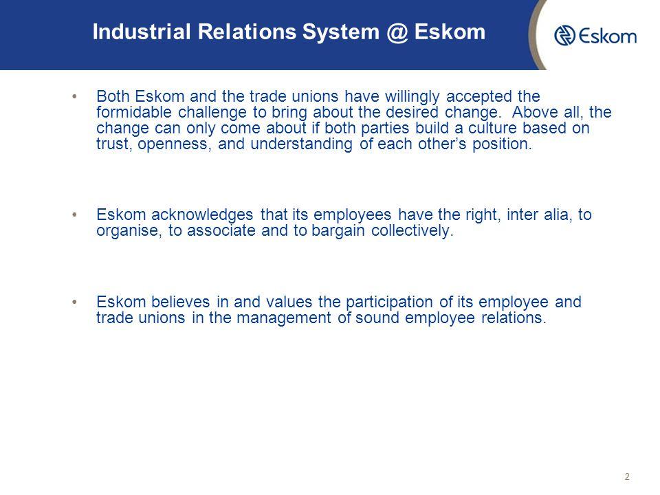 Industrial Relations System @ Eskom