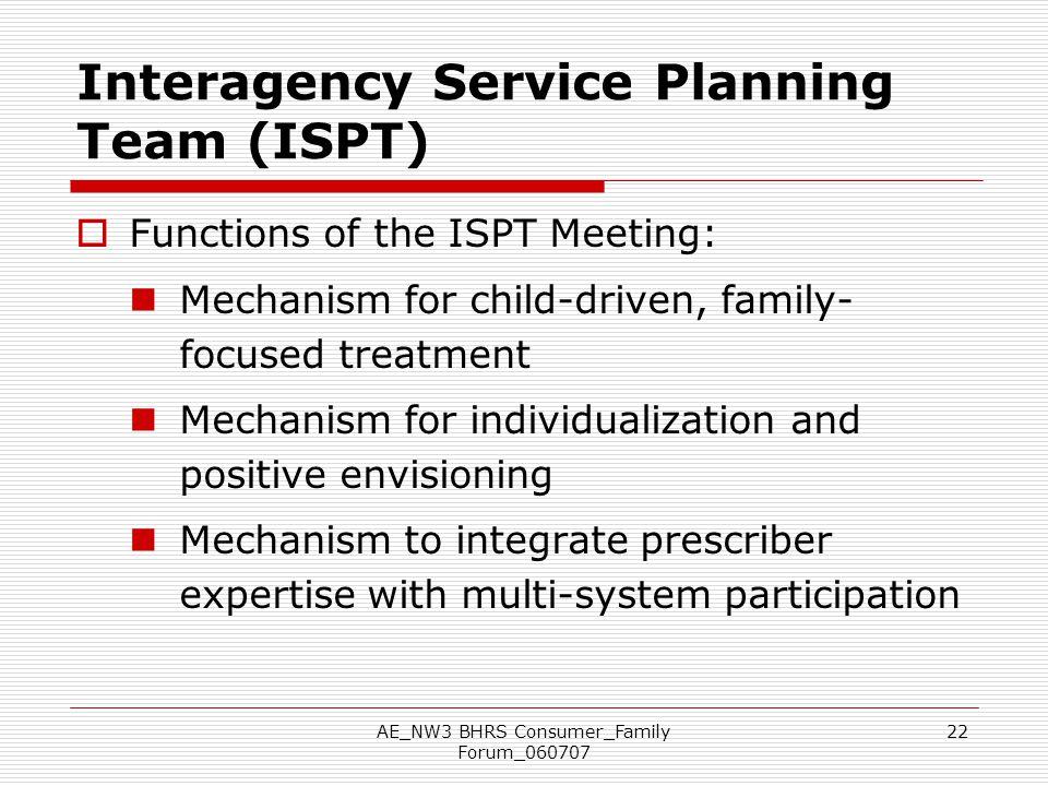 Interagency Service Planning Team (ISPT)
