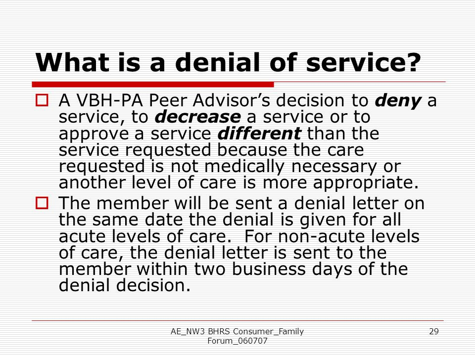 What is a denial of service