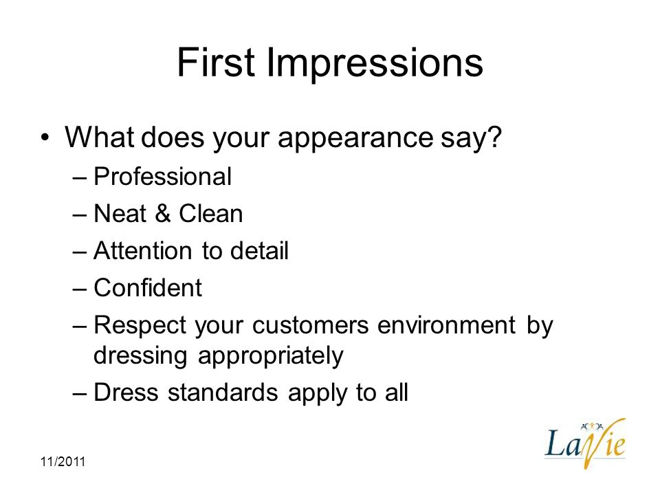 professional appearance first impressions essay Get an answer for 'compare and contrast courtesy, communication, appearance, and first impressions in business etiquette' and find homework help for other business questions at enotes.