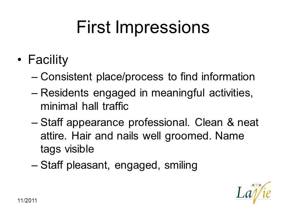 First Impressions Facility