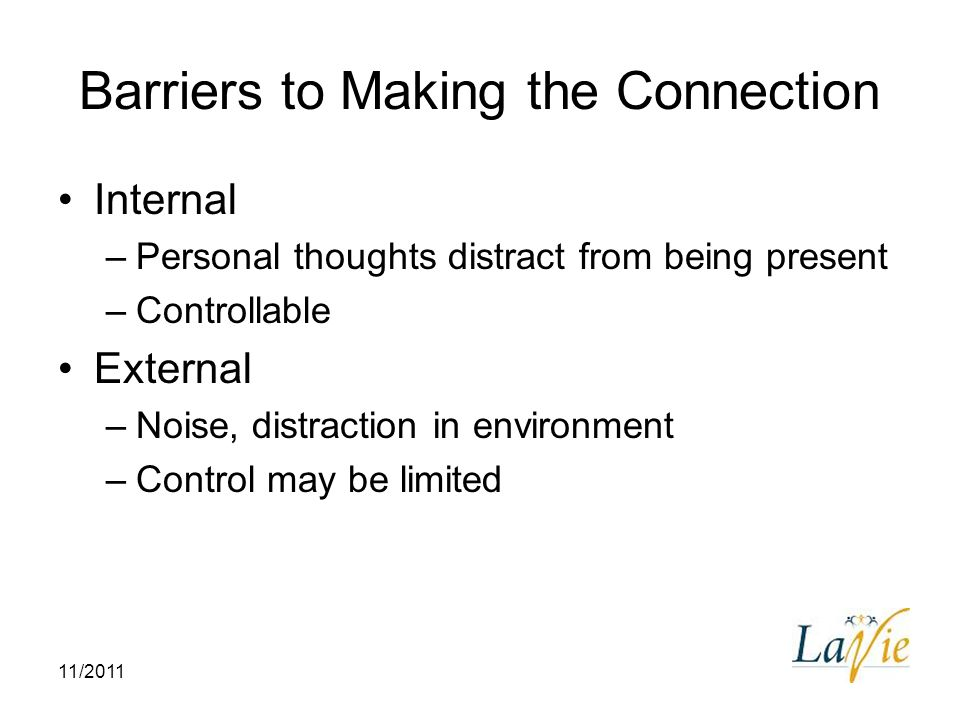 Barriers to Making the Connection
