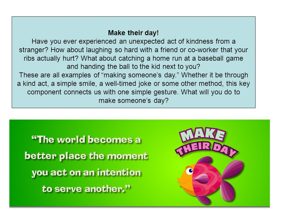 Have you ever experienced an unexpected act of kindness from a