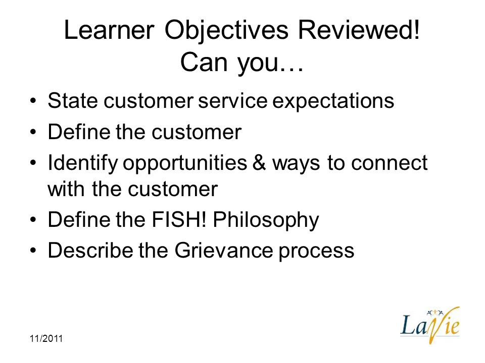 Learner Objectives Reviewed! Can you…