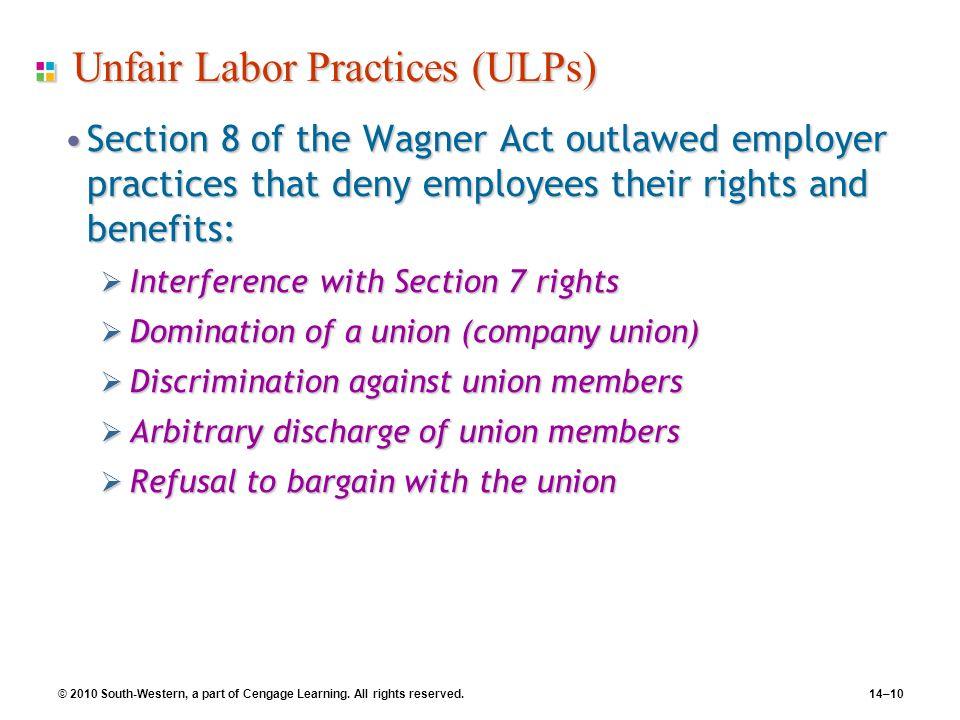 Unfair Labor Practices (ULPs)