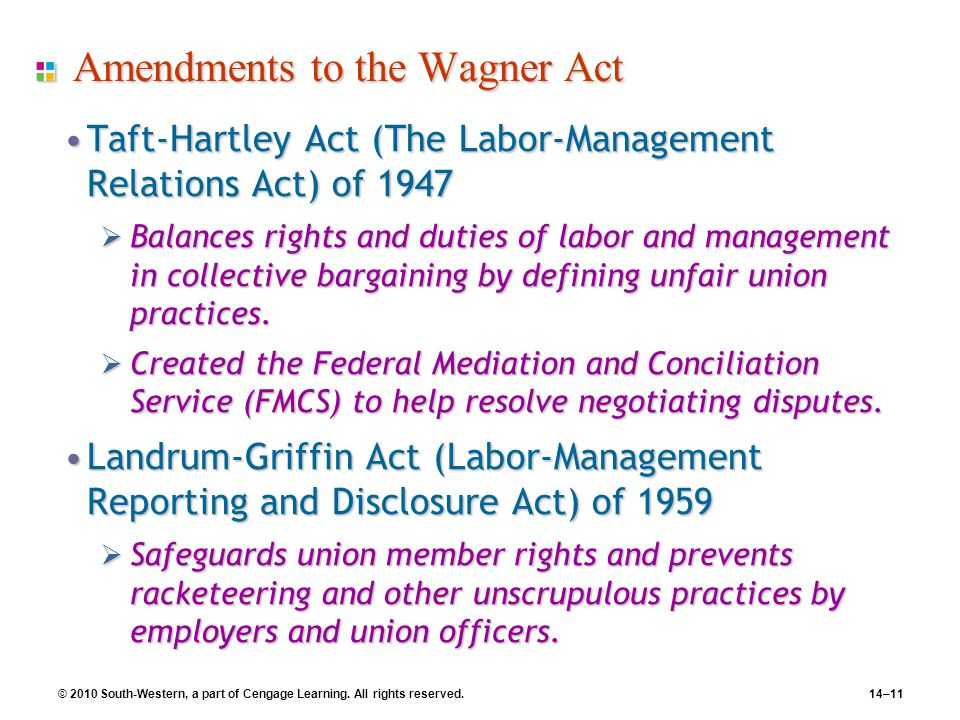 Amendments to the Wagner Act