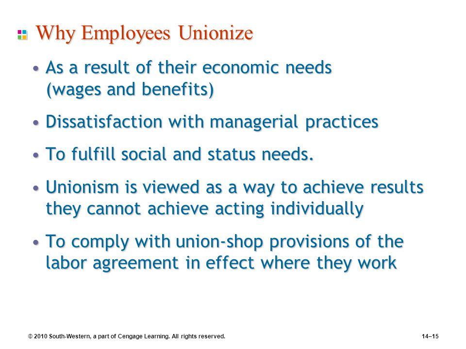 Why Employees Unionize