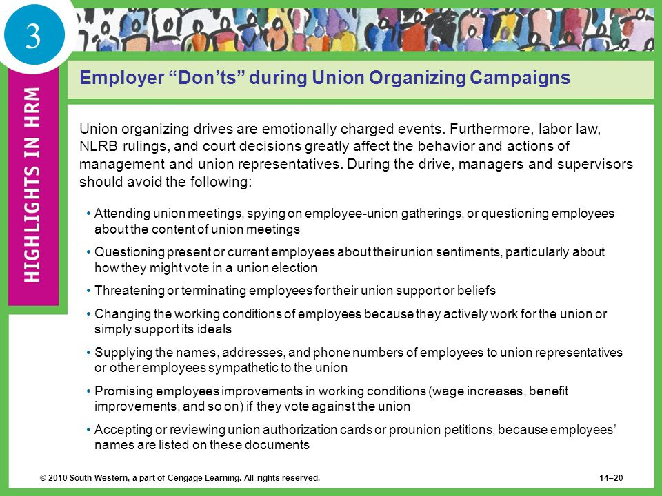 3 Employer Don'ts during Union Organizing Campaigns