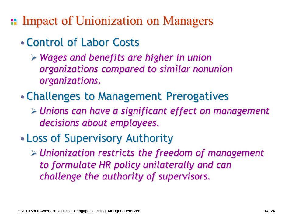 Impact of Unionization on Managers