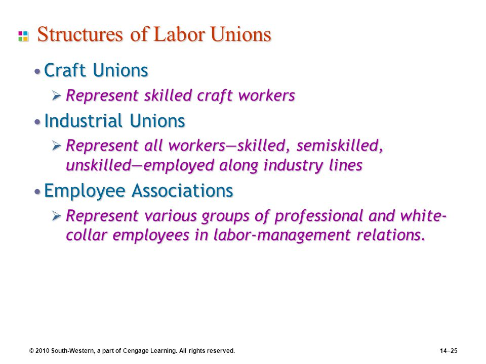 Structures of Labor Unions