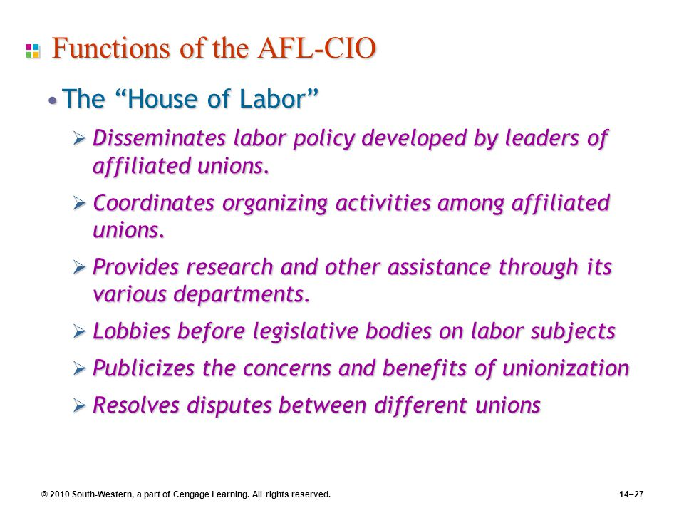 Functions of the AFL-CIO