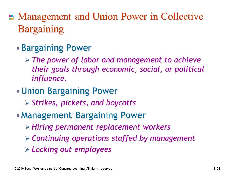 Management and Union Power in Collective Bargaining