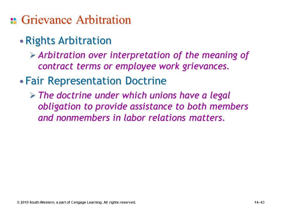 Grievance Arbitration
