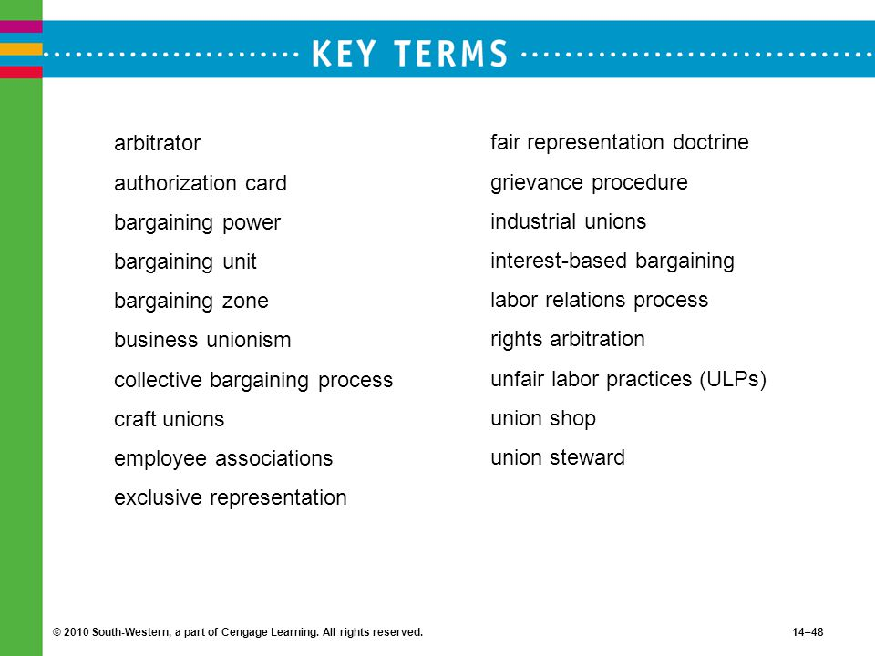 collective bargaining process craft unions employee associations