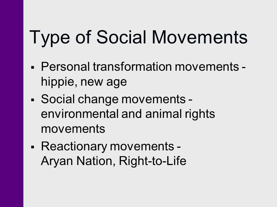Type of Social Movements