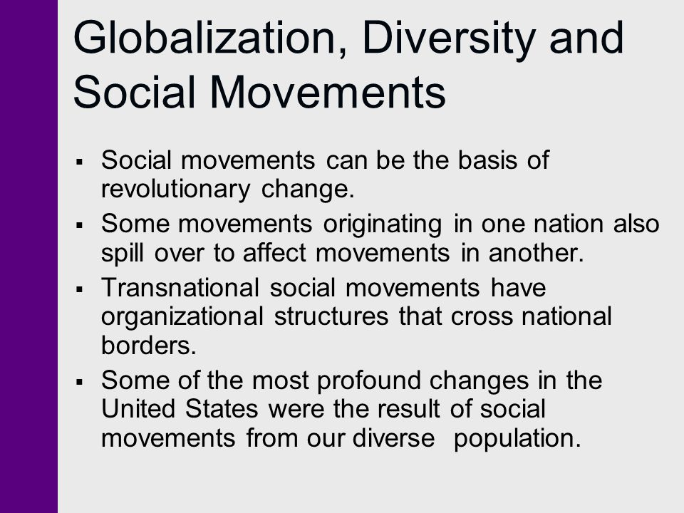 Globalization, Diversity and Social Movements
