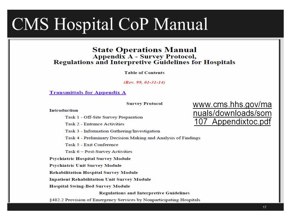 CMS Hospital CoP Manual