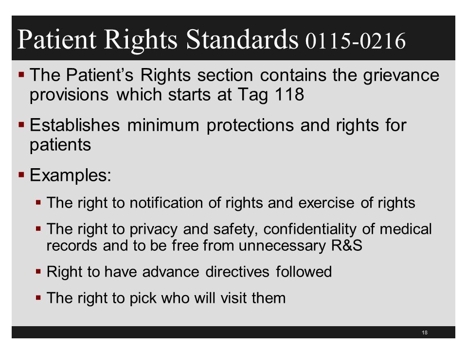 Patient Rights Standards 0115-0216