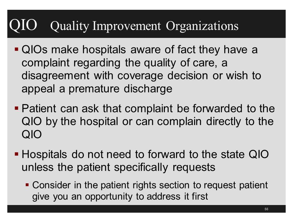 QIO Quality Improvement Organizations
