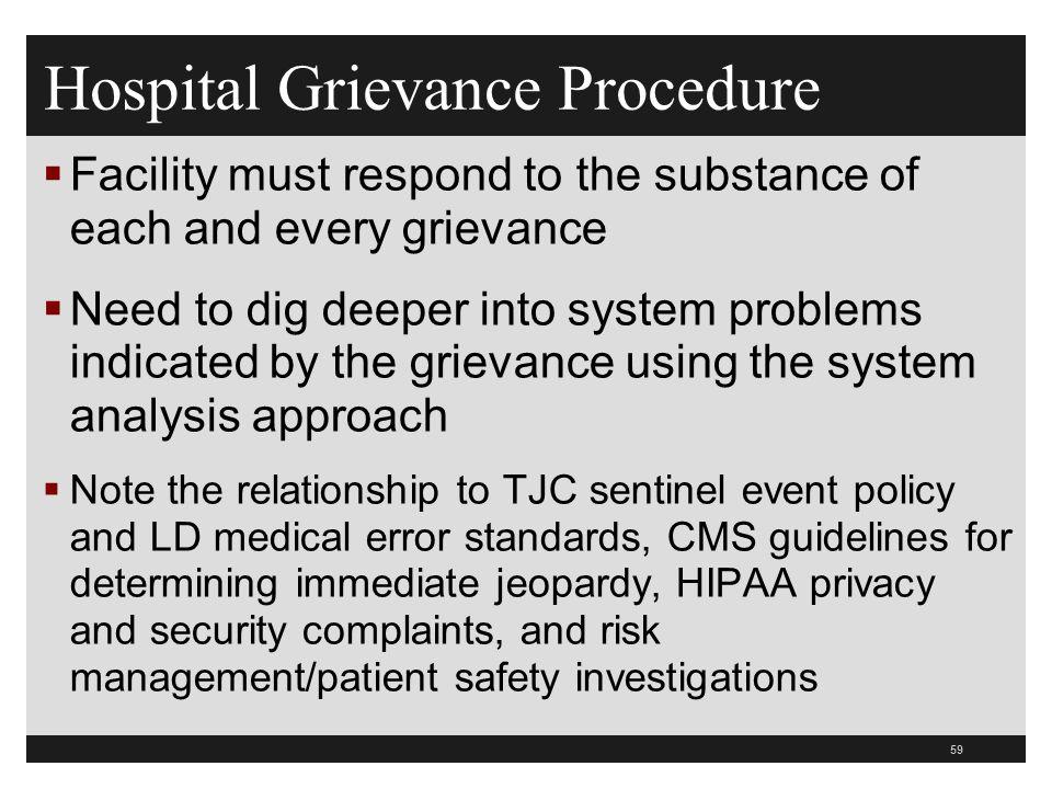 Hospital Grievance Procedure
