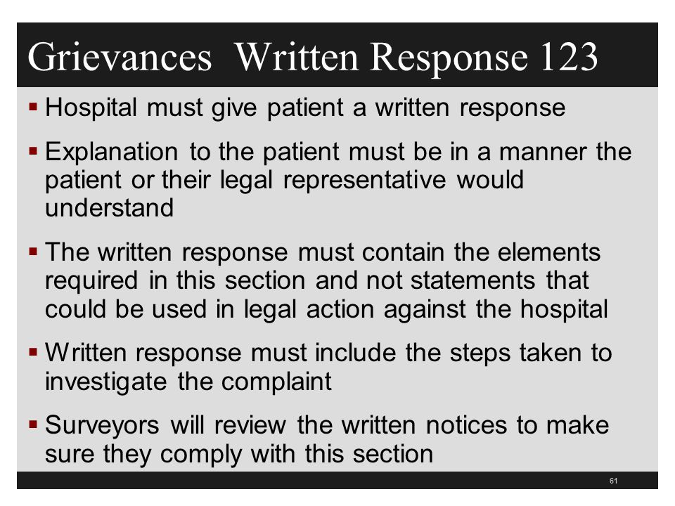 Grievances Written Response 123